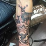 tattoo chosen art studio black and grey deer realism arizona glendale
