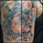 tattoo chosen art studio black and grey portrait lioness arizona glendale