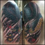 tattoo chosen art studio black dragon japanese cover-up arizona glendale