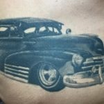 Chosen Art Tattoo Shop Glendale Arizona chevy old school black and grey bomb healed healing