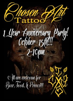 chosen art tattoo 1 year anniversary party glendale arizona tattooer artist art