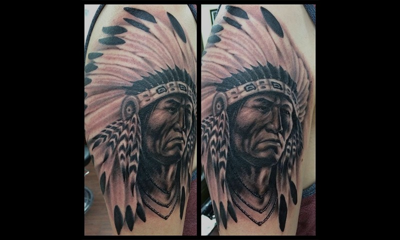 American Indian Tattoo by Eric Jones - Chosen Art Tattoo