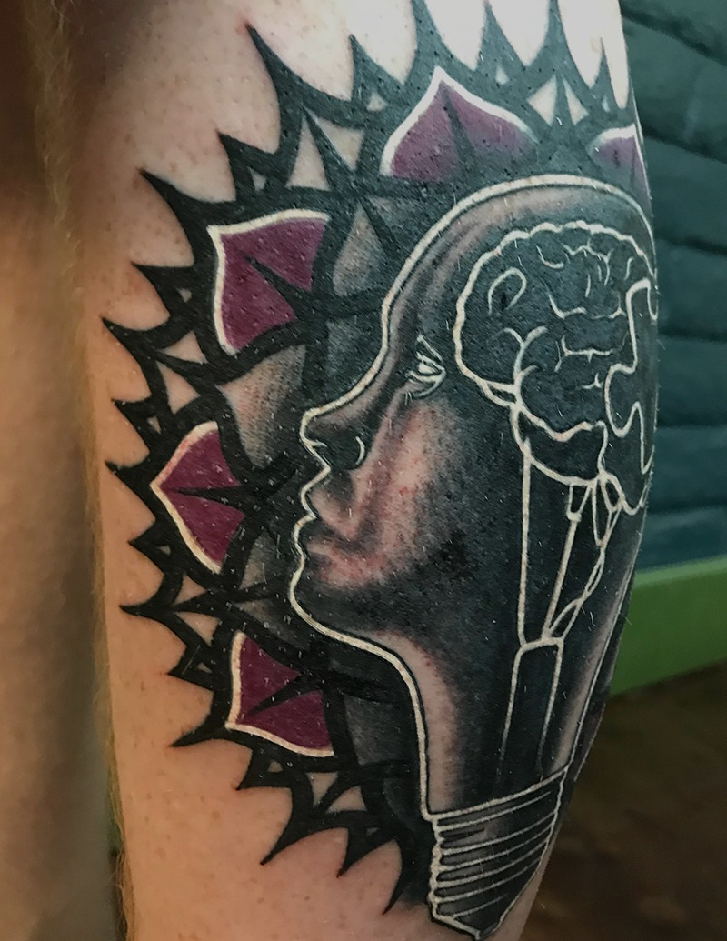 Black and Purple Work Tattoo by Jake McKeen - Chosen Art Tattoo