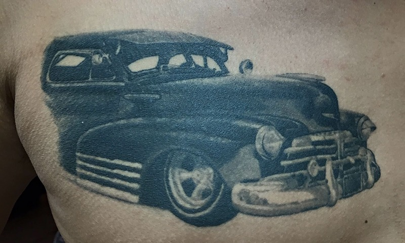 Car Tattoos by Eric Jones - Tattoo Artist - Chosen Art Tattoo