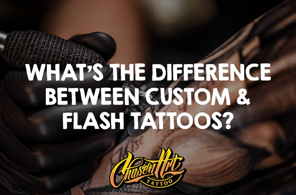 What's the Difference Between Custom and Flash Tattoo?