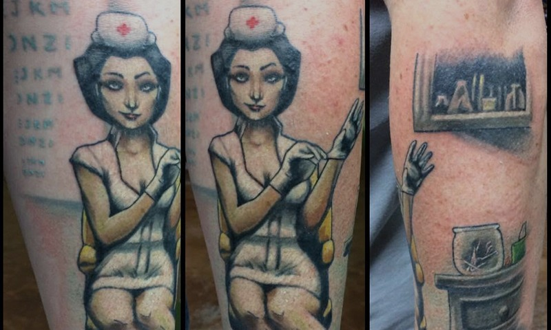 Nurse Tattoos by Tim Bruder - Chosen Art Tattoo