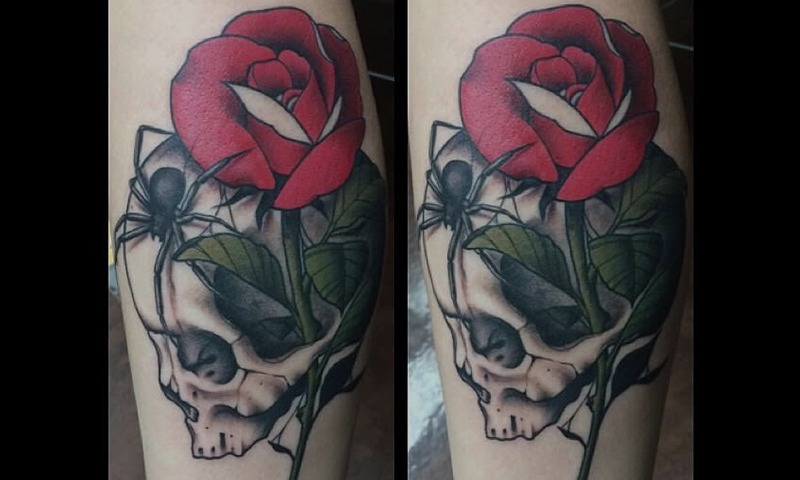 Color Rose Tattoo by Tim Bruder - Chosen Art Tattoo