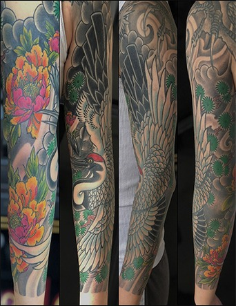 Japanese Inspired Sleeve Tattoos - Eric Jones - Tattoo Artist - Chosen Art Tattoo