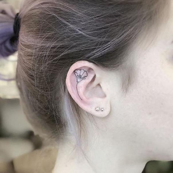 2019 Tattoo Trends - Ear Tattoos - Chosen Art Tattoo - Image & Art Belongs to 𝐇𝐚𝐧𝐧𝐚𝐡 𝐊𝐚𝐧𝐠🇰🇷