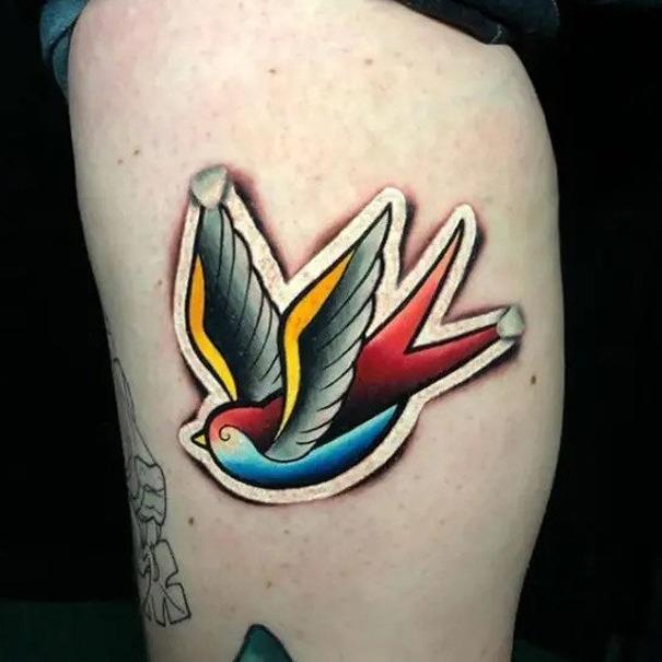 2019 Tattoo Trends - Sticker Tattoos - Chosen Art Tattoo - Image & Art Credit Belongs to Sergey Shanko