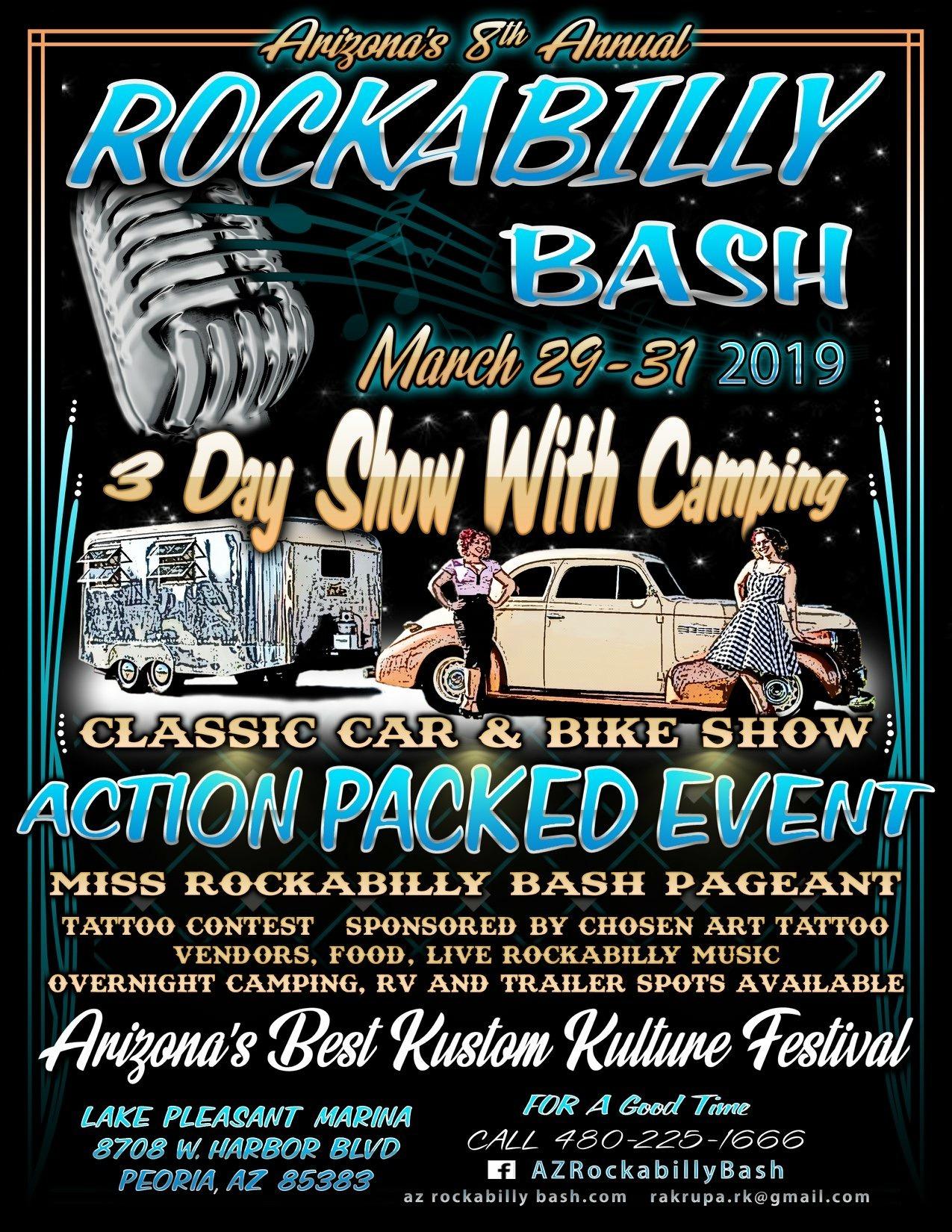 Rockabilly Bash March 29th March 30th March 31st 2019 Chosen Art Tattoo
