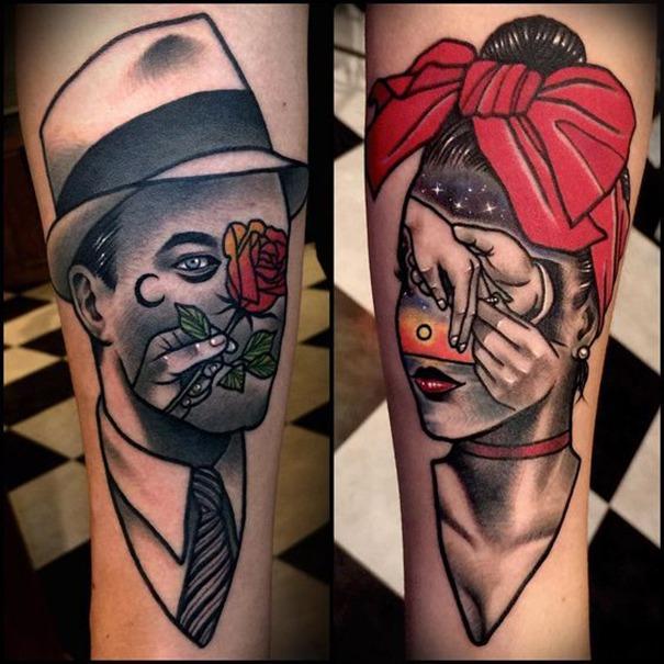 001c563f650ff 2019 Tattoo Trends - Mixed Media Tattoos - Chosen Art Tattoo