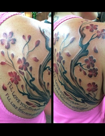 Japanese Cherry Blossom Trees by Eric Jones - Chosen Art Tattoo