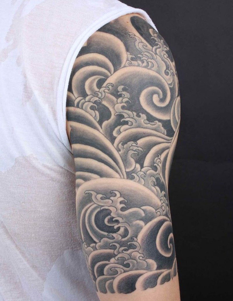 Wind and the Waves Tattoo - Japanese Tattoo Designs - Chosen Art Tattoo