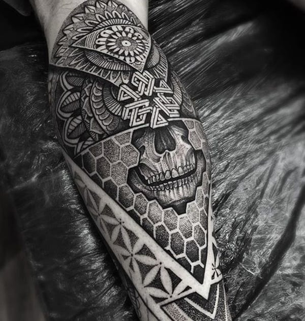 Black and Gray Native American Tattoos - Chosen Art Tattoo