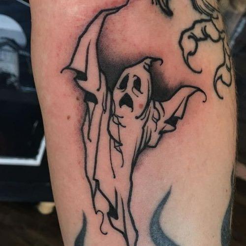 Classic Halloween Tattoos - Ghost - Chosen Art Tattoo
