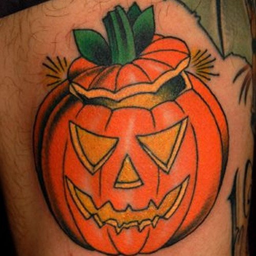 Jack O Lantern Tattoos 2 - Halloween Tattoos - Chosen Art Tattoo