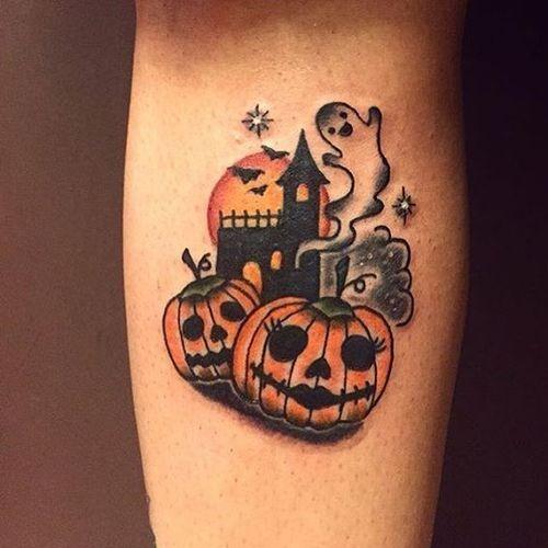 Jack O Lantern Tattoos 3 - Halloween Tattoos - Chosen Art Tattoo