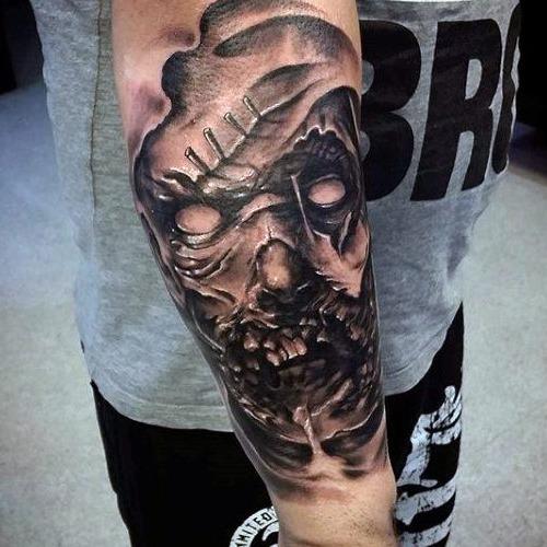 Zombie Tattoos 1 - Halloween Tattoos - Chosen Art Tattoo
