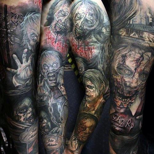 Zombie Tattoos - Halloween Tattoos - Chosen Art Tattoo