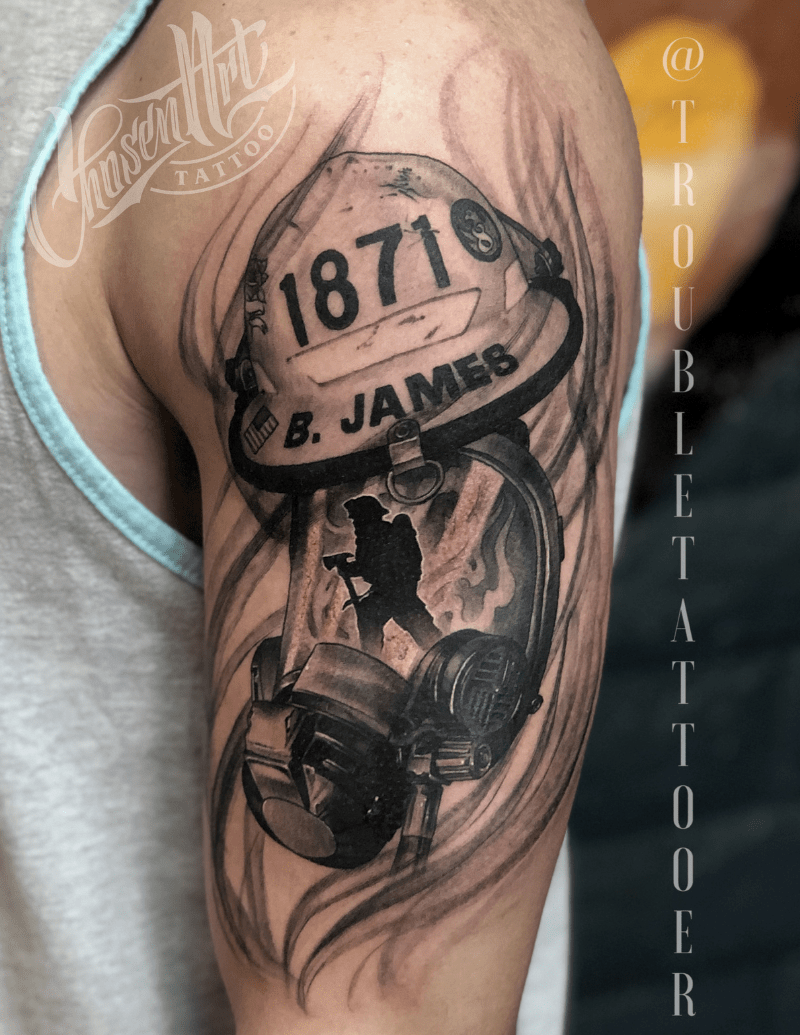 Memorial Tattoo by Eric Jones - Chosen Art Tattoo V2