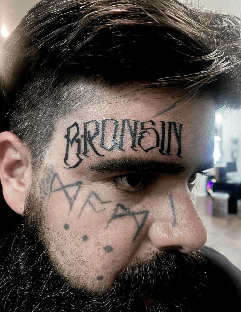 Name Facial Tattoo - Alex Ortagus - Chosen Art Tattoo