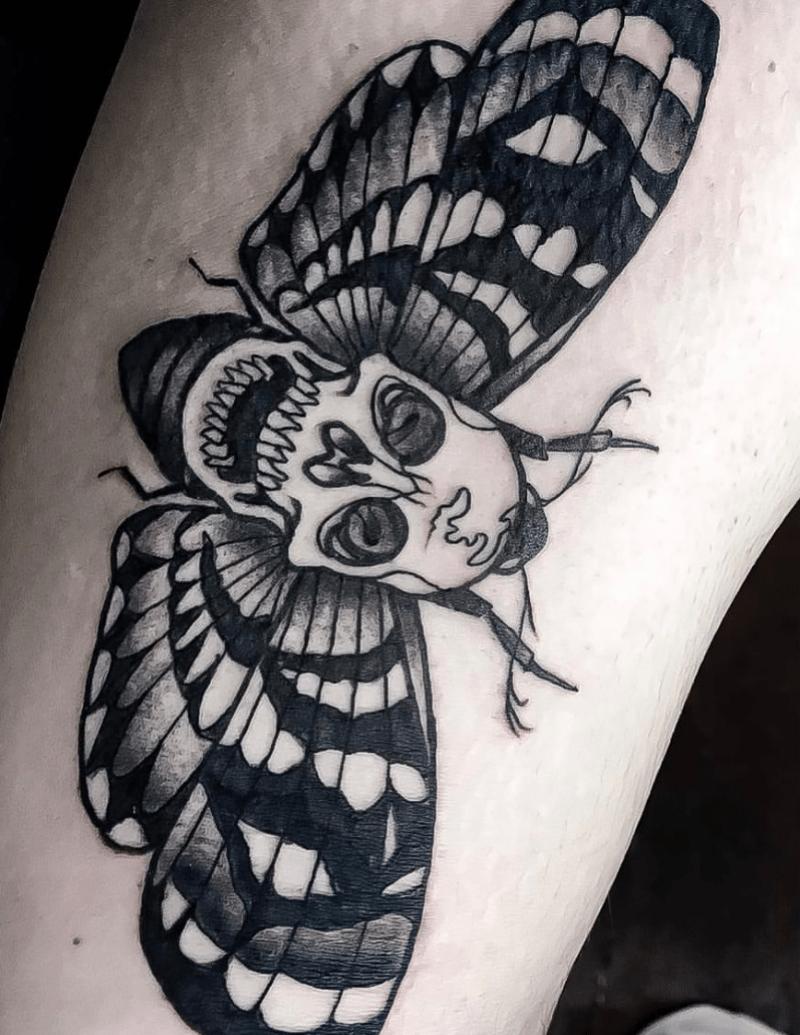 Skull Moth Tattoo - Alex Ortagus - Chosen Art Tattoo