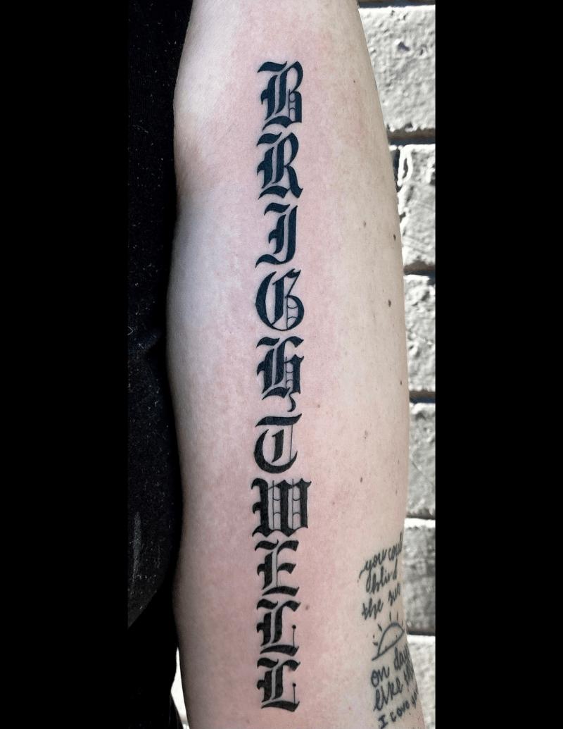 Surname Tattoo - Alex Ortagus - Chosen Art Tattoo